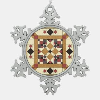Waliser-Steppdecken-Baum-Verzierung des Schneeflocken Zinn-Ornament
