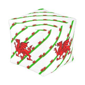 Waliser stripes Flagge Kubus Sitzpuff
