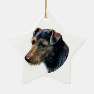 Waliser Terrier Keramik Ornament