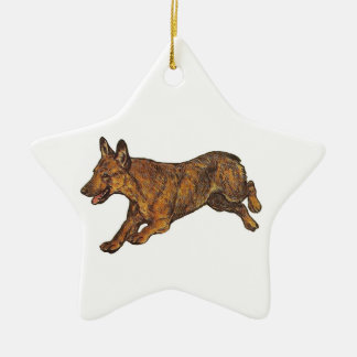 WaliserCorgi Keramik Ornament