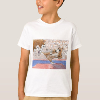 WaliserCorgihund Taekwondo T-Shirt