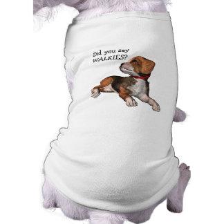 """Walkies? "" - Niedliche Beagle-Frage Shirt"