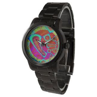 Walkin auf Sun-Glanz psychedelisches 3D Armbanduhr