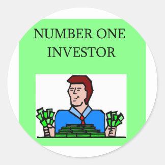 Wall Street Socke, arket Investor Runder Sticker
