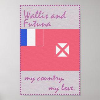 Wallis und Futuna mein Land meine Liebe Poster