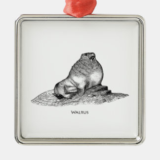 Walroß Silbernes Ornament