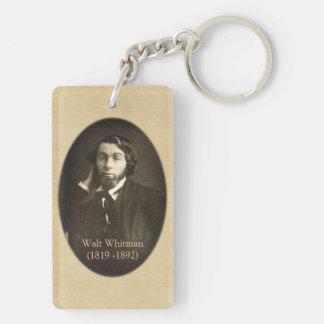 Walt Whitman-Porträt in New Orleans 1848 Schlüsselanhänger