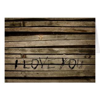 Wand logierent i-Liebe, die Sie kardieren Karte