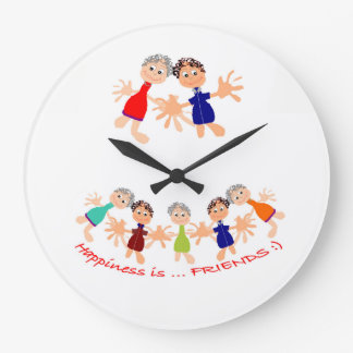 Wand-Uhr mit Cartoon-Charakteren Große Wanduhr