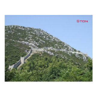 Wände von Ston - Kroatien Postkarte