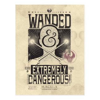 Wanded u. extrem gefährliches gewolltes Plakat - Postkarte