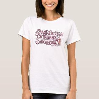 Wanded und extrem gefährliche Grafik- Rosa T-Shirt