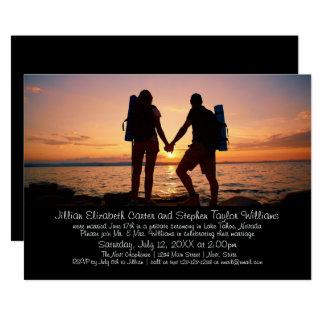 Wanderer-Foto - Hochzeits-Mitteilung 12,7 X 17,8 Cm Einladungskarte