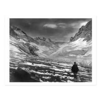 Wanderer im Aconcagua-Tal im Chili Photograp Postkarte
