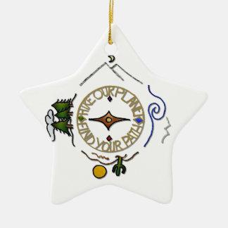 Wandern Sie das Soul-Kompass unseres Keramik Stern-Ornament