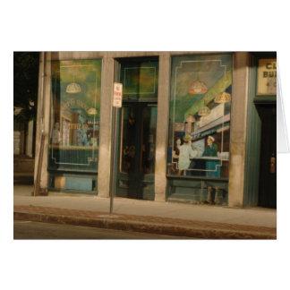 Wandgemälde auf Clark-Gebäude, Greenfield MA Grußkarte