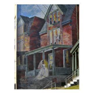 """Wandgemälde:  Braut, die ihr """"Haus betritt. """" Postkarte"""