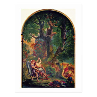 Wandgemälde des Heiligen-Sulpice in Paris-Kapelle Postkarte