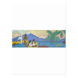Wandgemälde durch Arman Manookian C. 1930 Postkarte