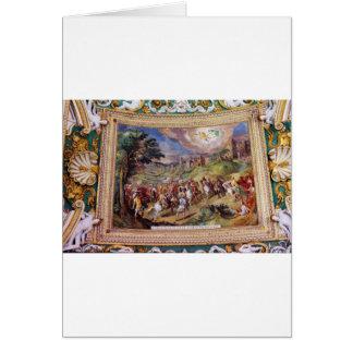 Wandgemälde im Vatikan-Museum Grußkarte