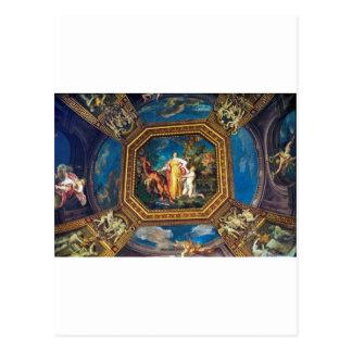 Wandgemälde im Vatikan-Museum Postkarte