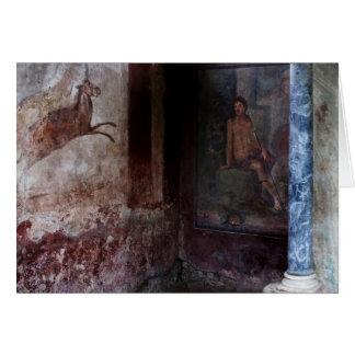 Wandgemälde in Pompeji Grußkarte