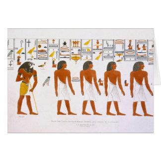 Wandgemälde von den Gräbern der Könige bei Thebes, Grußkarte