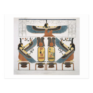 Wandgemälde von den Gräbern der Könige bei Thebes, Postkarte