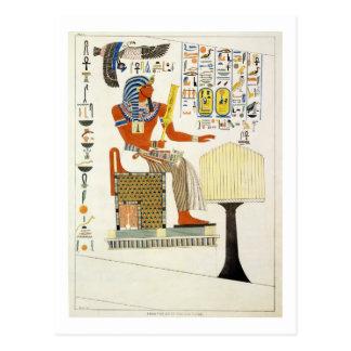 Wandgemälde von den Gräbern der Könige von Thebes, Postkarte