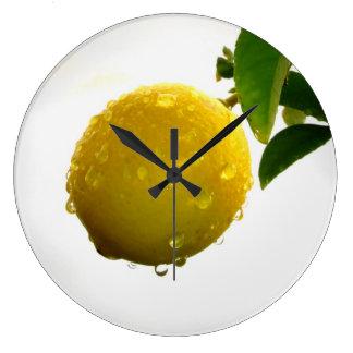 Wanduhr-Gelbzitrone Uhren