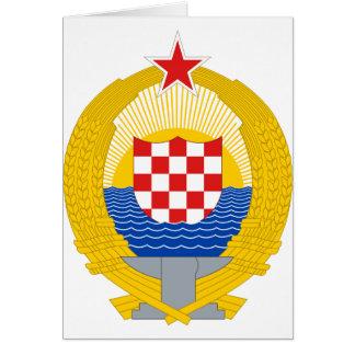 Wappen der sozialistischen Republik Kroatien Karte