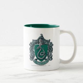 Wappen-Grün Harry Potter | Slytherin Zweifarbige Tasse