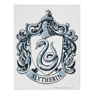 Wappen Harry Potter | Slytherin - Eis-Blau Poster