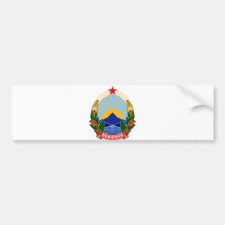 Wappen offizielles Wappenkunde-Symbol Macedonias Autoaufkleber