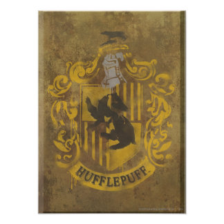 Wappen-Spray-Farbe Harry Potter | Hufflepuff Poster