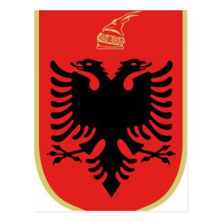 Wappen von Albanien Postkarten