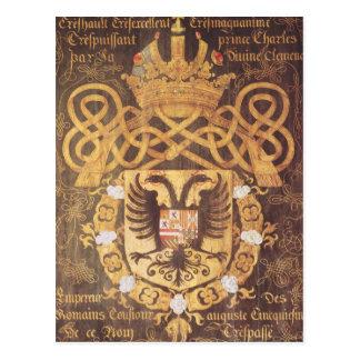 Wappen von Charles V des 23. Kapitels Postkarte