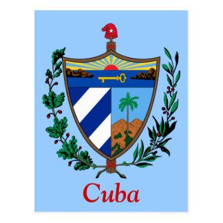 Wappen von Kuba Postkarte