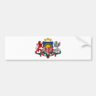 Wappen von Lettland - Latvijas ģerbonis Autoaufkleber