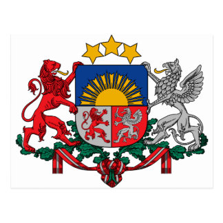 Wappen von Lettland - Latvijas ģerbonis Postkarte