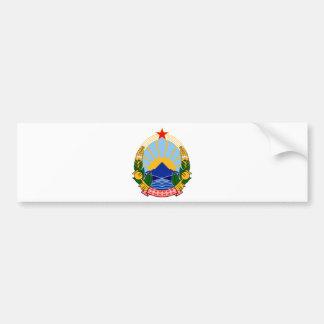Wappen von SR Mazedonien Autoaufkleber