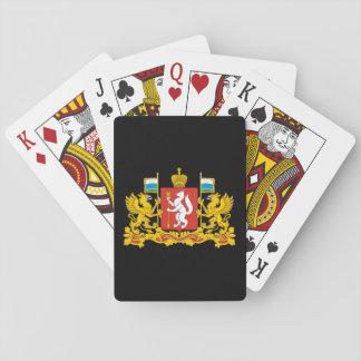Wappen von Swerdlowsk oblast Spielkarten