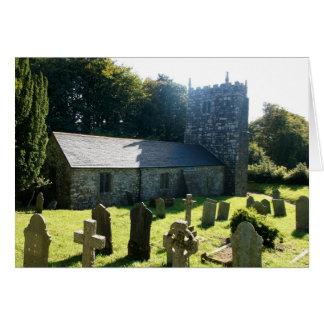 Warleggan Kirche Cornwall England Karte