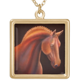 Warmblood Show-Pferdehalskette Vergoldete Kette