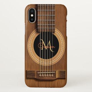 Warmer hölzerner Akustikgitarre iPhone X Fall iPhone X Hülle