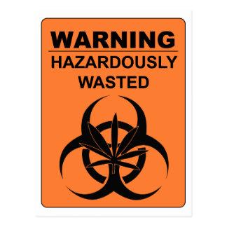 Warnen gefährlich vergeudet postkarte