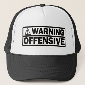 Warnende Offensive Truckerkappe