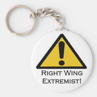 Warnender Rechteextremist! Standard Runder Schlüsselanhänger
