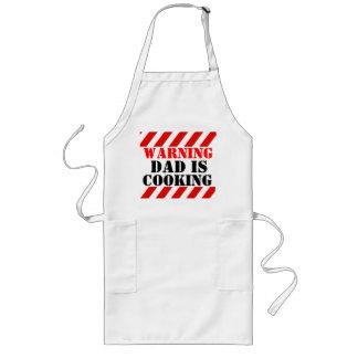 Warnender Vati kocht grafische Koch-Schürze Lange Schürze
