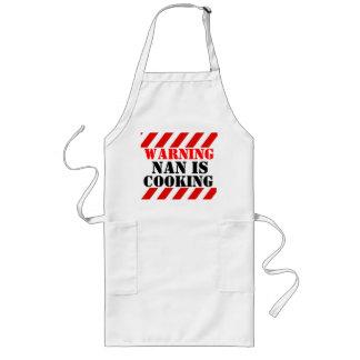 Warnendes Nan kocht grafische Koch-Schürze Lange Schürze
